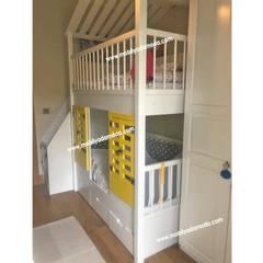 MOBİLYADA MODA  – Demir Ve Arden'in Odası, Özel Tasarım Ranzalı Çocuk Odası :  tarz Erkek çocuk yatak odası