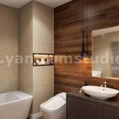 Impressive Residential Interior Design for Home by 3D Animation Studio, Brisbane – Australia:  Bathroom by Yantram Architectural Design Studio, Modern Ceramic