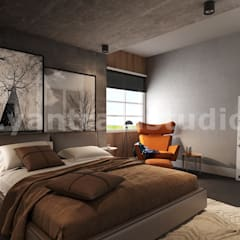 Impressive Residential Interior Design for Home by 3D Animation Studio, Brisbane – Australia:  Small bedroom by Yantram Architectural Design Studio