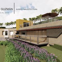 Casa guerrero Guzmán : Casas unifamiliares de estilo  por Áureo Arquitectura