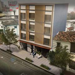 Edificio Murano : Casas multifamiliares de estilo  por Áureo Arquitectura, Moderno Concreto