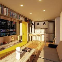 Edificio Murano : Habitaciones pequeñas de estilo  por Áureo Arquitectura