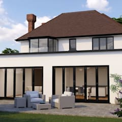 Home extension:  Detached home by Reynolds Design Ltd- Architecture & Planning