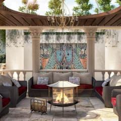 Front yard by dal design office, Classic