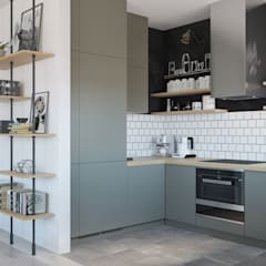 Small kitchens by OM DESIGN, Scandinavian MDF