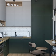 Kitchen units by OM DESIGN, Industrial Wood Wood effect