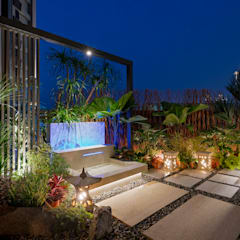 بالکن،ایوان وتراس توسط大地工房景觀公司, استوایی