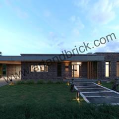 Casas unifamiliares de estilo  por Архитектурное бюро Art&Brick