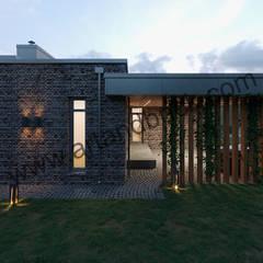 Fincas de estilo  por Архитектурное бюро Art&Brick, Escandinavo Aluminio/Cinc