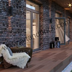 Проект дома в скандинавском стиле : Tерраса в . Автор – Архитектурное бюро Art&Brick