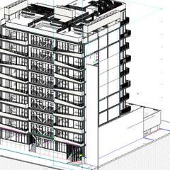 Proyecto Ganador Habilitacional  - Edicifio que se cayo en Terremoto  -  Proyectco Coquimbo Lindavista  : Edificios de Oficinas de estilo  por M Arctictecture