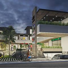 Plaza Comercial Cuernavaca: Casas de estilo  por GRUPO WALL ARQUITECTURA Y DISEÑO SA DE CV, Moderno
