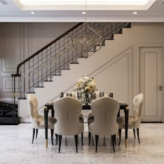 Phong cách Tân cổ điển trong nội thất biệt thự Lavila - ICON INTERIOR:  Phòng ăn by ICON INTERIOR
