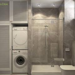 Дизайн четырехкомнатной квартиры 103 кв. м в стиле ар-деко. Фото проекта: Ванные комнаты в . Автор – ЕвроДом