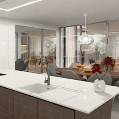 Projecto 3D Cozinha - Moradia - Porto: Cozinhas  por Alpha Details