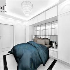 Dormitorios pequeños de estilo  de Wkwadrat Architekt Wnętrz Toruń
