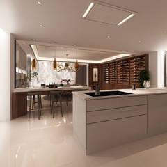 Projecto 3D -Cozinha e Sala de Jantar - Braga: Cozinhas embutidas  por Alpha Details