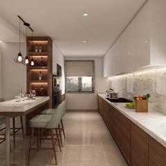 Projecto 3D cozinha, Vila Nova de Gaia: Cozinhas  por Alpha Details
