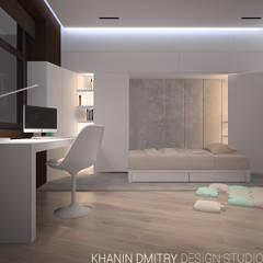 Квартира в ЖК Донской Олимп : Спальни для мальчиков в . Автор – Dmitriy Khanin, Минимализм МДФ