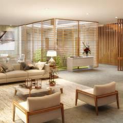 اتاق نشیمن by Viviane Cunha Arquitetura
