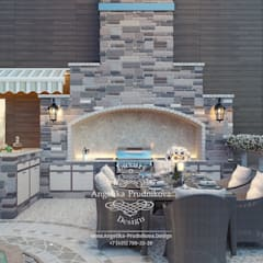 Дизайн-проект интерьера Террасы в Вильнюсе: Tерраса в . Автор – Дизайн-студия элитных интерьеров Анжелики Прудниковой