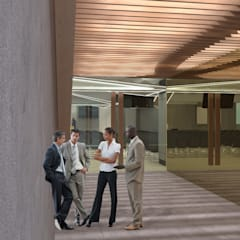 G Church Interior: Koridor dan lorong oleh TIES Design & Build,
