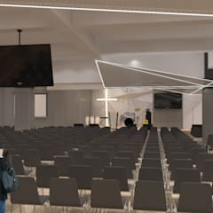 G Church Interior Ruang Media Modern Oleh TIES Design & Build Modern