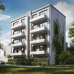 Budynek Mieszkalny, Warszawa: styl , w kategorii Dom wielorodzinny zaprojektowany przez Zbigniew Tomaszczyk  Decorum Architekci Sp z o.o.