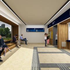 Dworzec PKP, Olsztynek: styl , w kategorii Przestrzenie biurowe i magazynowe zaprojektowany przez Zbigniew Tomaszczyk  Decorum Architekci Sp z o.o.
