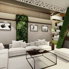 Residential Bungalow design:  Living room by Homes for India