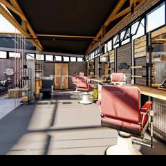 Gentleman's BarberShop Lojas e Espaços comerciais industriais por Traço M - Arquitectura Industrial