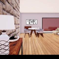 """Casa """"HT"""" Salas de estar rústicas por Traço M - Arquitectura Rústico"""