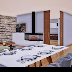Dining room by Traço M - Arquitectura