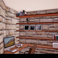 اتاق کار و درس توسطTraço M - Arquitectura, راستیک (روستایی)