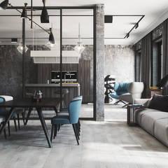 Modern Loft:  Wohnzimmer von Vis-Render Architektur Visualisierung Agentur