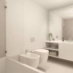 Victor Bastos Apartments Casas de banho modernas por LABviz Moderno