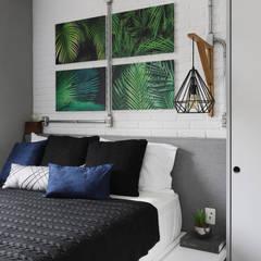 INSIDE ARQUITETURA E DESIGNが手掛けた小さな寝室