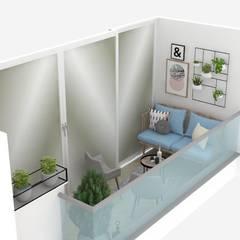 Balcón de estilo  por Decó ambientes a la medida