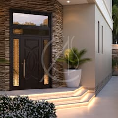 Modern Classic House Design:  Front doors by Comelite Architecture, Structure and Interior Design , Modern