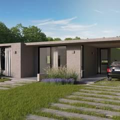 Casa Contemporanea en Horizontes Al Sur Canning : Casas unifamiliares de estilo  por BAUHAUS ARGENTINA,Moderno Hierro/Acero
