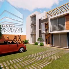 CASA EN CHARACATO: Casas unifamiliares de estilo  por D&CC ARQUITECTOS Y ASOCIADOS