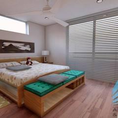 CASA EN CHARACATO: Dormitorios de estilo  por D&CC ARQUITECTOS Y ASOCIADOS