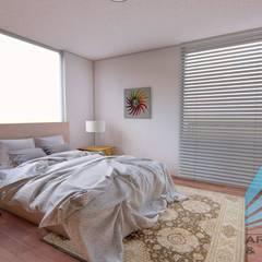 CASA EN CHARACATO: Dormitorios pequeños de estilo  por D&CC ARQUITECTOS Y ASOCIADOS