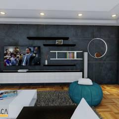 : Salas / recibidores de estilo  por Vida Arquitectura, Moderno Cerámico