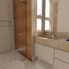 Apartamento Moderno: Banheiros  por Fark Arquitetura e Design