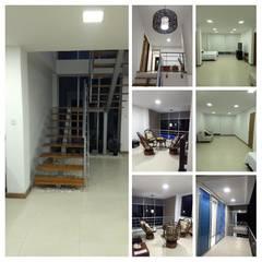 Diseño y construcción vivienda campestre en Santagueda, Caldas: Habitaciones pequeñas de estilo  por Ariah Constructora