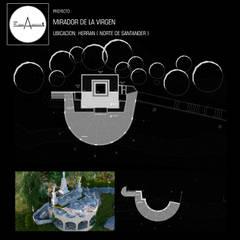 Balcón de estilo  por ESQUEMA ARQUITECTURA
