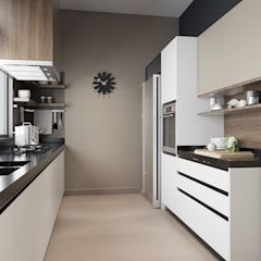 Double Storey House:  Kitchen by Oriwise Sdn Bhd,