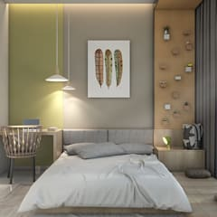 Double Storey House:  Bedroom by Oriwise Sdn Bhd