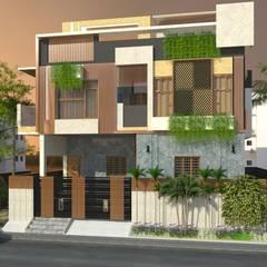 Residence in Mangadu:  Villas by T.Aswin Prasad